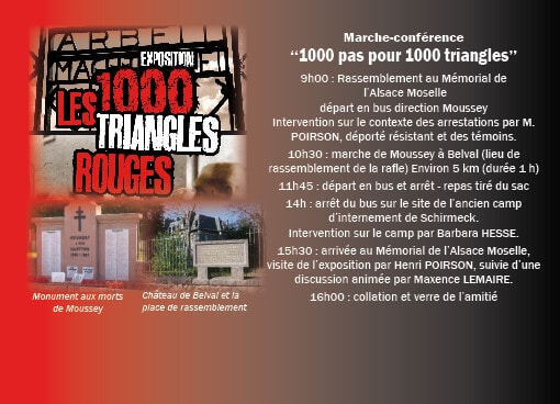 """23 avril 2016 : Marche-conférence """"1000 pas pour 1000 triangles"""""""