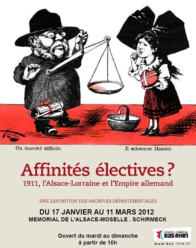 """17/01/12 – 11/03/12: """"Affinités électives ? 1911, l'Alsace-Lorraine et l'Empire"""""""