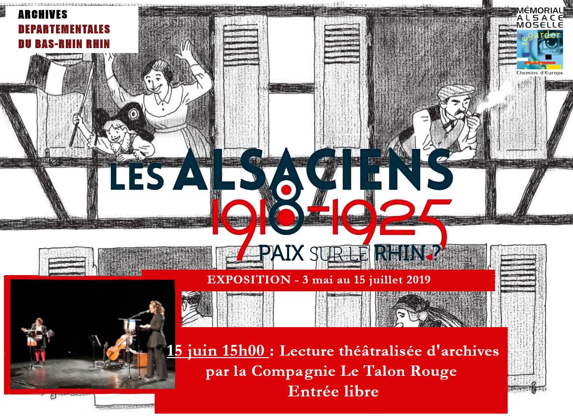 """EXPOSITION """"1918-1925, les Alsaciens, Paix sur le Rhin?"""""""